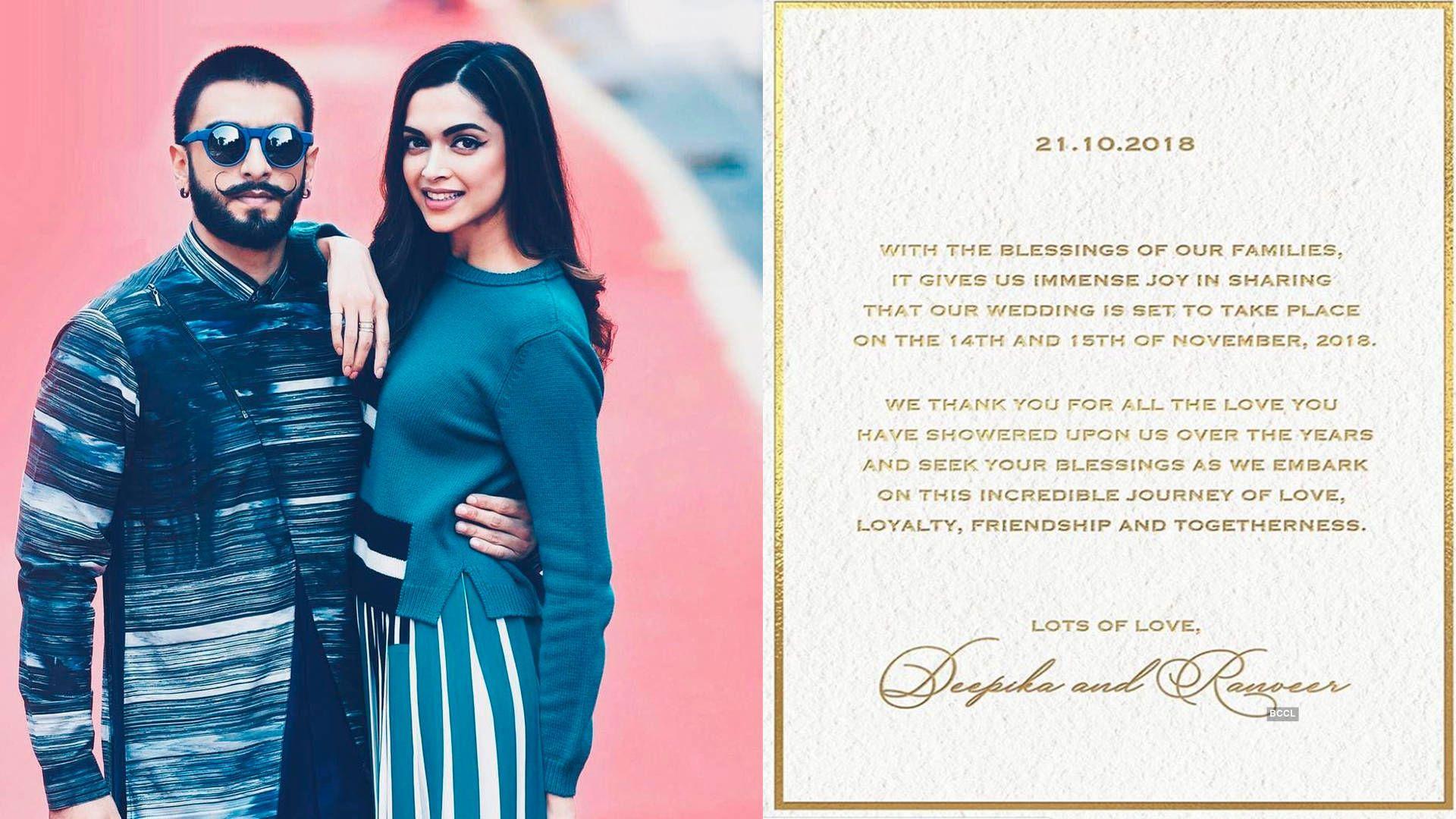 Soon To Be Married Couple Deepika Padukone Ranveer Singh Begin