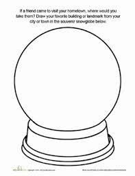 Snow Globe Coloring Pages Snow Globes Globe Drawing Snowflake