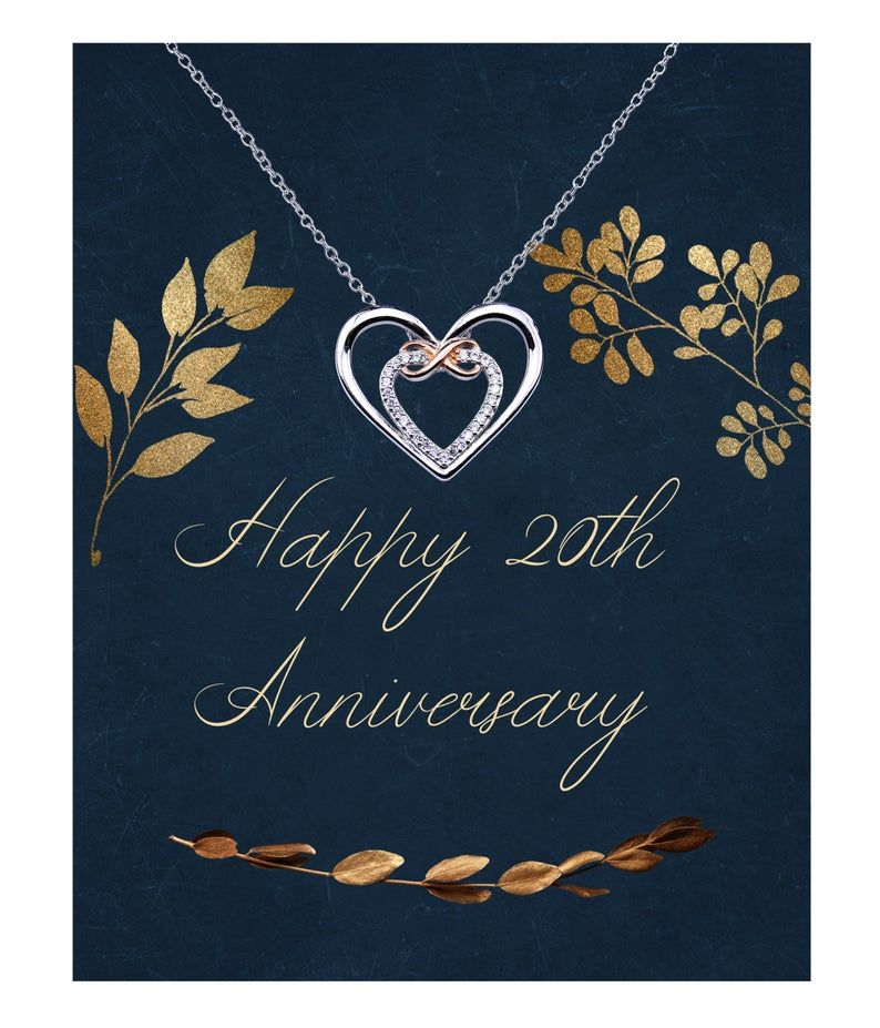 20th wedding anniversary necklace you own my heart etsy