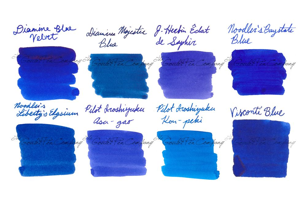 Try Our Ink Sample Package In Medium Royal Blue It Includes 2ml Samples Of 8 Best Ing Fountain Pen Colors