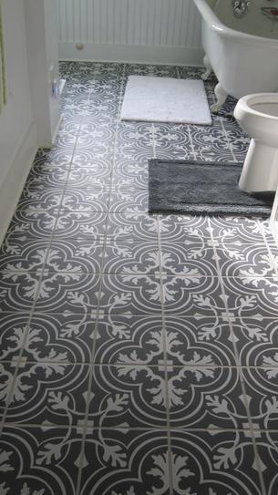 Bathroom Floor Tile Samples merola tile twenties classic ceramic floor and wall tile - 7-3/4