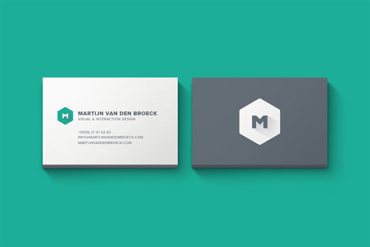 Minimal business cards mockup PSD template, available for free ...