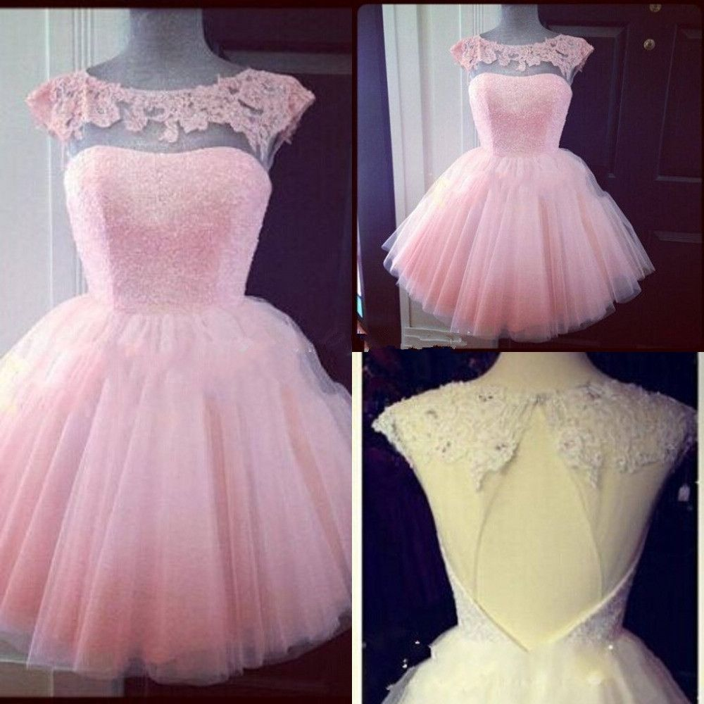 New arrival short puffy pink prom dress tulle fashion pinterest