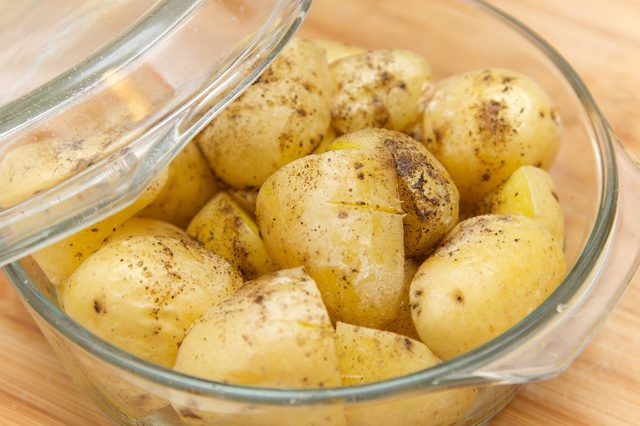 How To Cook Baby Potatoes In The Microwave Livestrong Com Baby Potatoes Potatoes In Microwave Potatoes