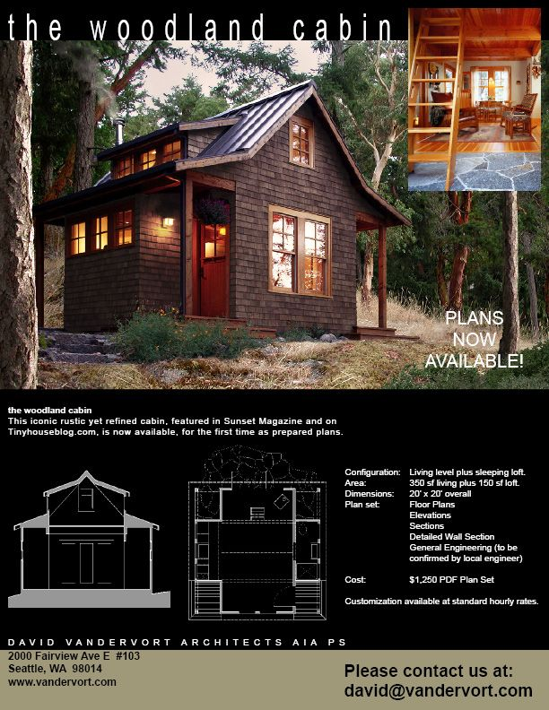 Beautiful Tiny Home Or Cabin Plans By Vandervort Architects. Make Certain  To Check Out Other