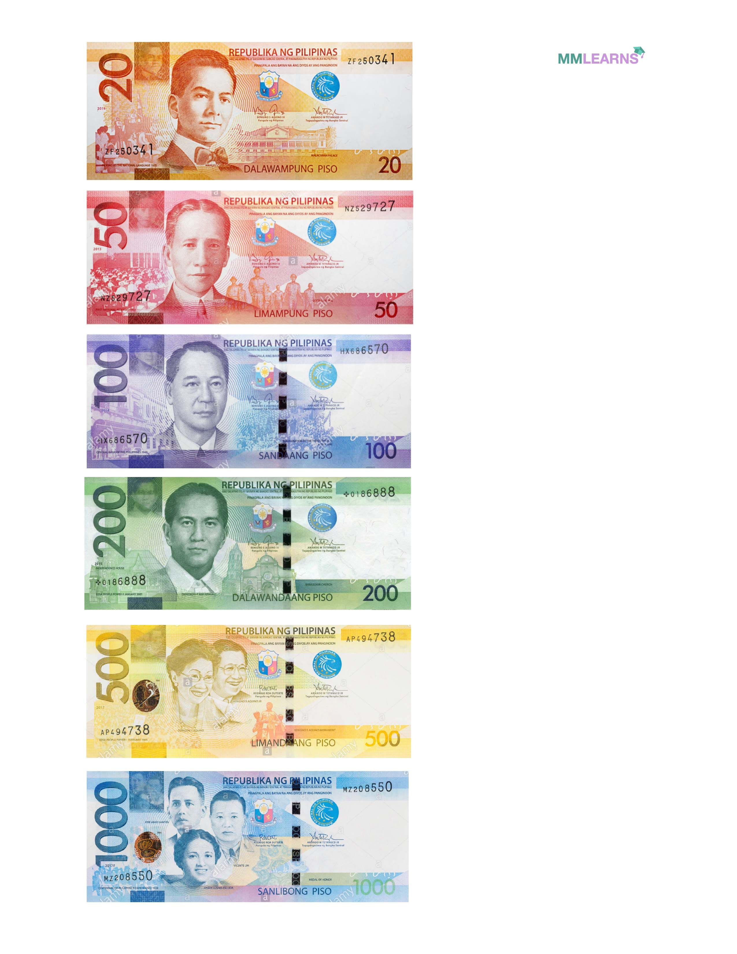 Philippine Currency Play Money In