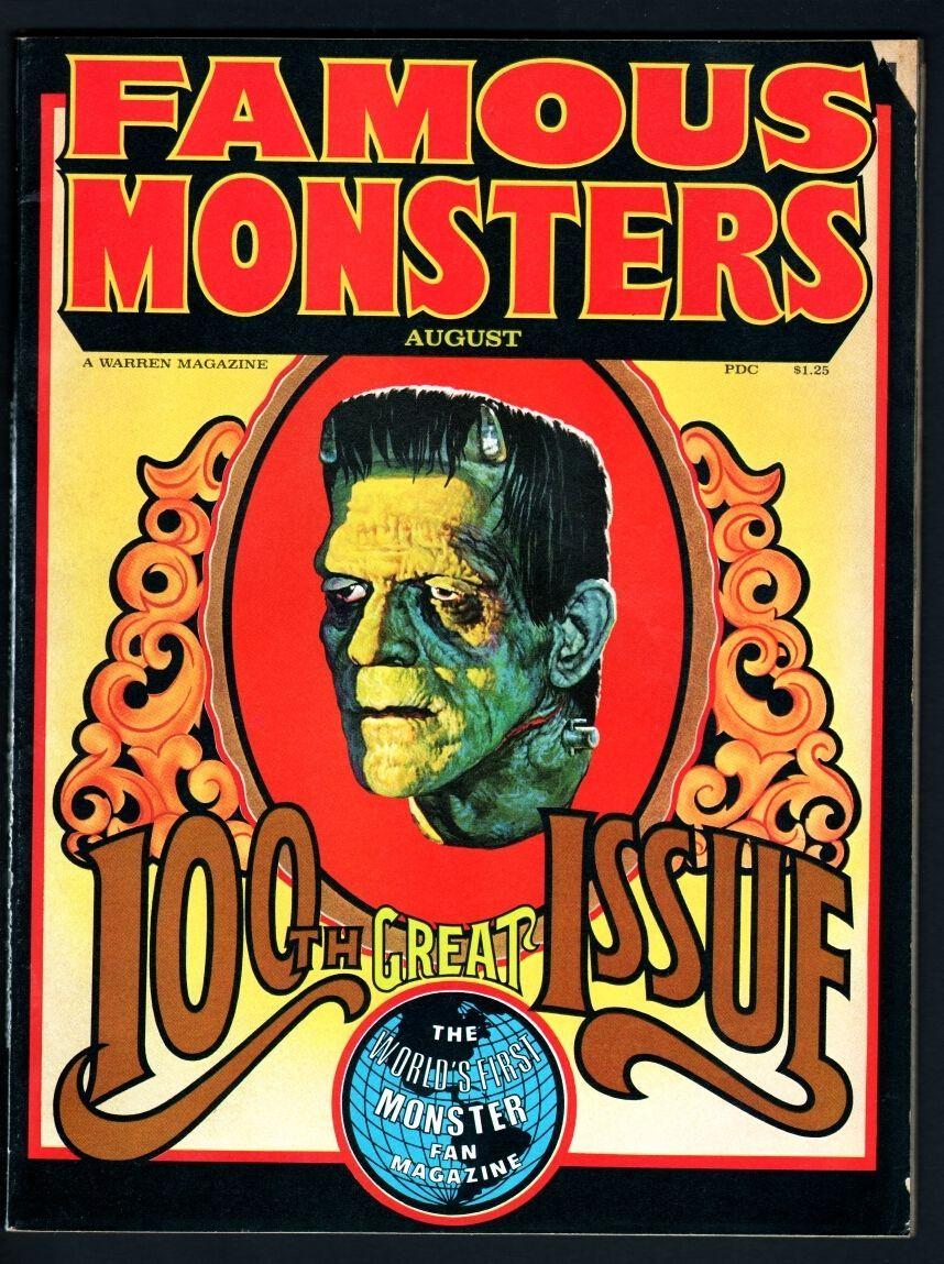 Famous Monsters of Filmland 100 Karloff Bela Lugosi Lon Chaney 1973 4E ACK G VG | eBay