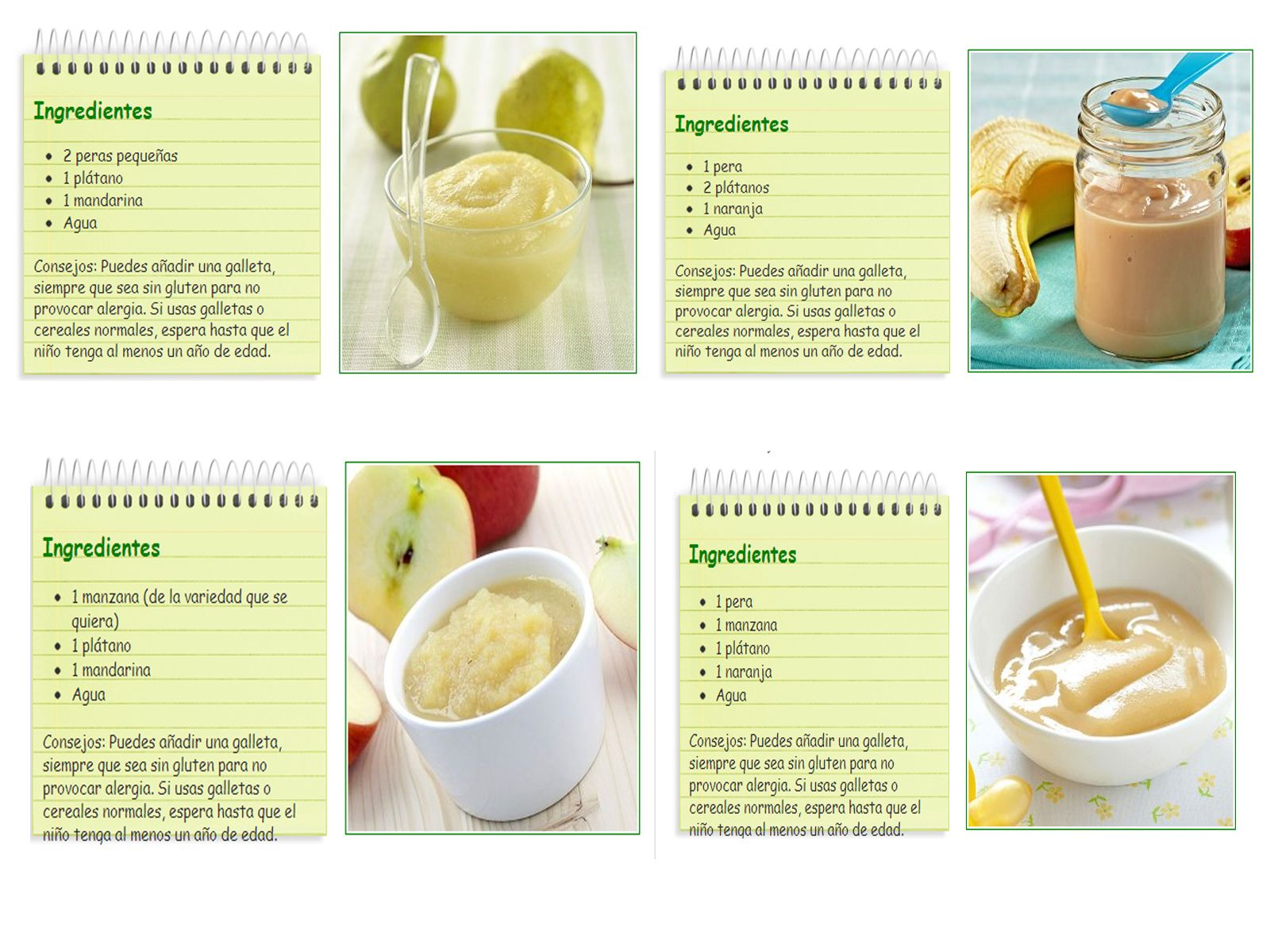 Papillas de fruta bebes pinterest - Pures bebes 6 meses ...