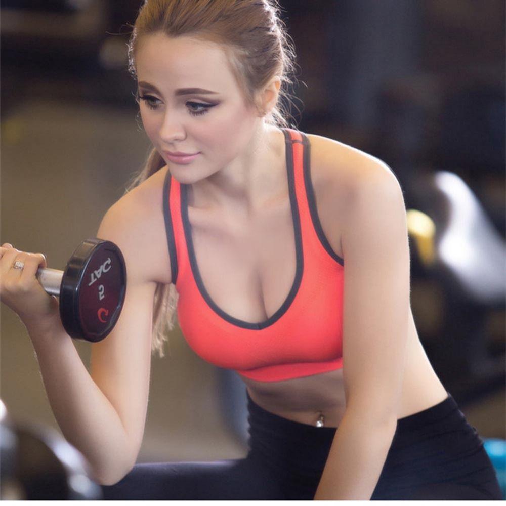 474544b741b9a CRESTGOLF Golf Training Women Sport Bras Underwear Athletic Vest Running Gym  Fitness Yoga Bra V Shape