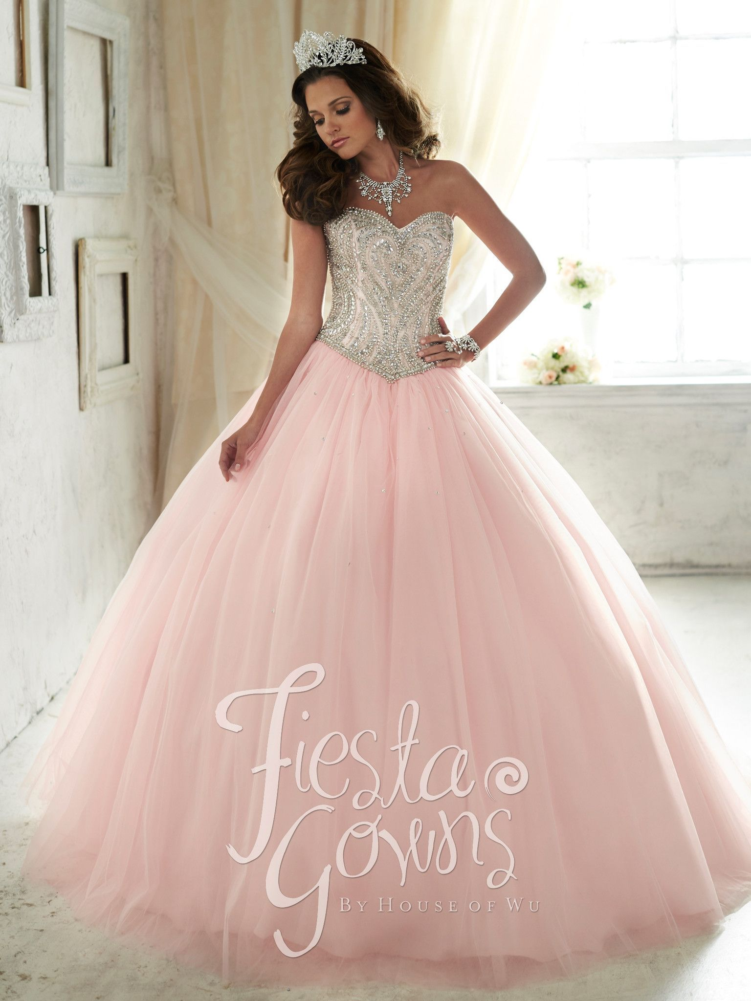 Beaded Strapless Dress by House of Wu Fiesta Gowns Style 56290 ...