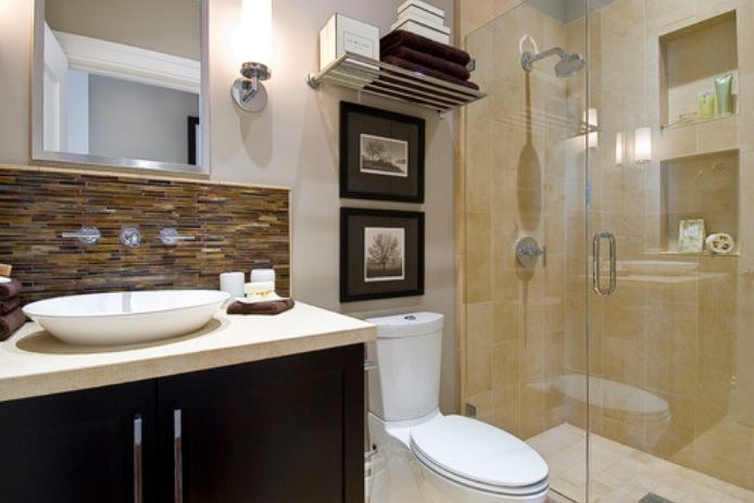 Bathroom Design Highlights Stand Up Shower Backsplash