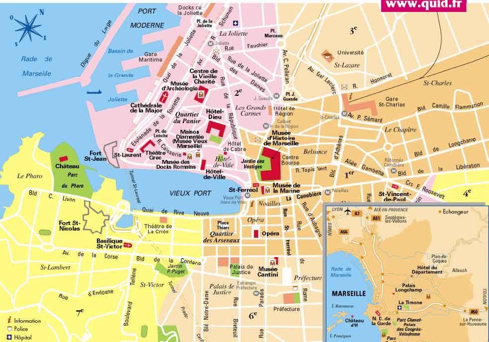 Marseille Centre Ville Plan Con Imagenes Mapa Turistico