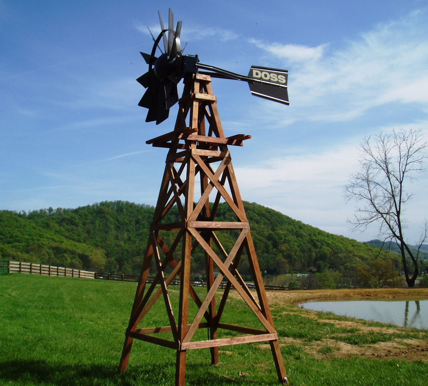 how to build a wooden windmill tower