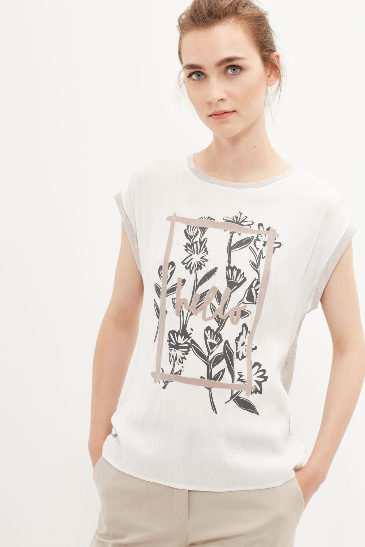 Cortefiel Camiseta Estampada Camisetas Estampadas Camisetas Estampadas Mujer Camisetas