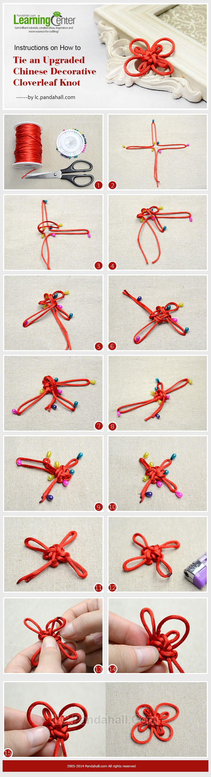Instructions On How To Tie An Upgraded Chinese Decorative Cloverleaf