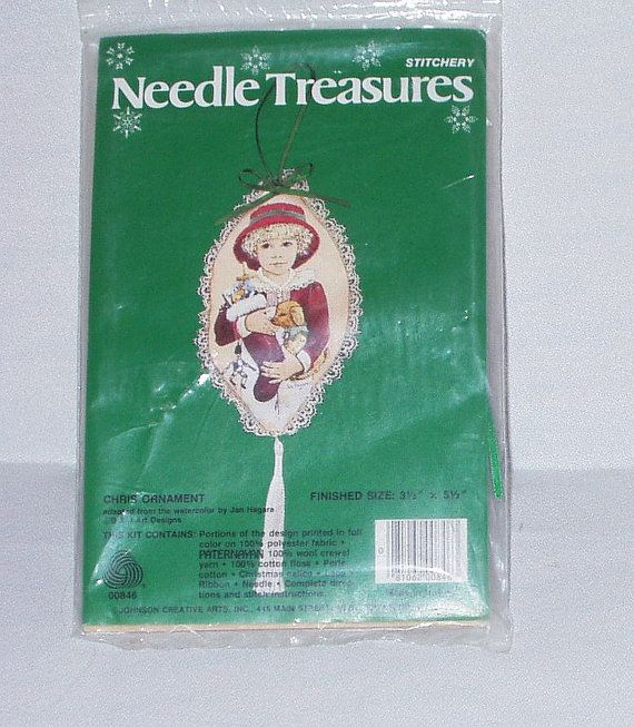 Jan Hagara Cross Stitch Patterns: Needle Treasures Stitchery Needlework Kit Chris Christmas