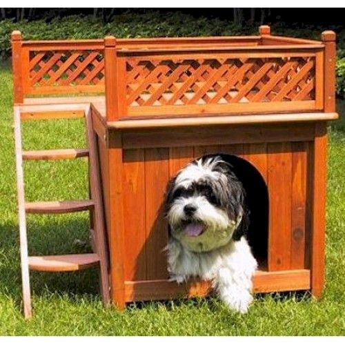 """The Room with a View Dog House is designed for the smaller animals in your home"""