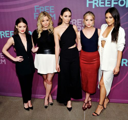 'Pretty Little Liars' cast at ABC Freeform Upfront 2016