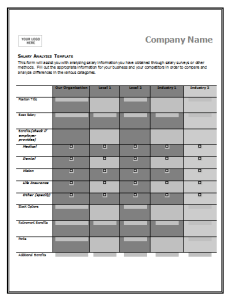 Salary Comparison Chart Template  Salary Doc    Chart