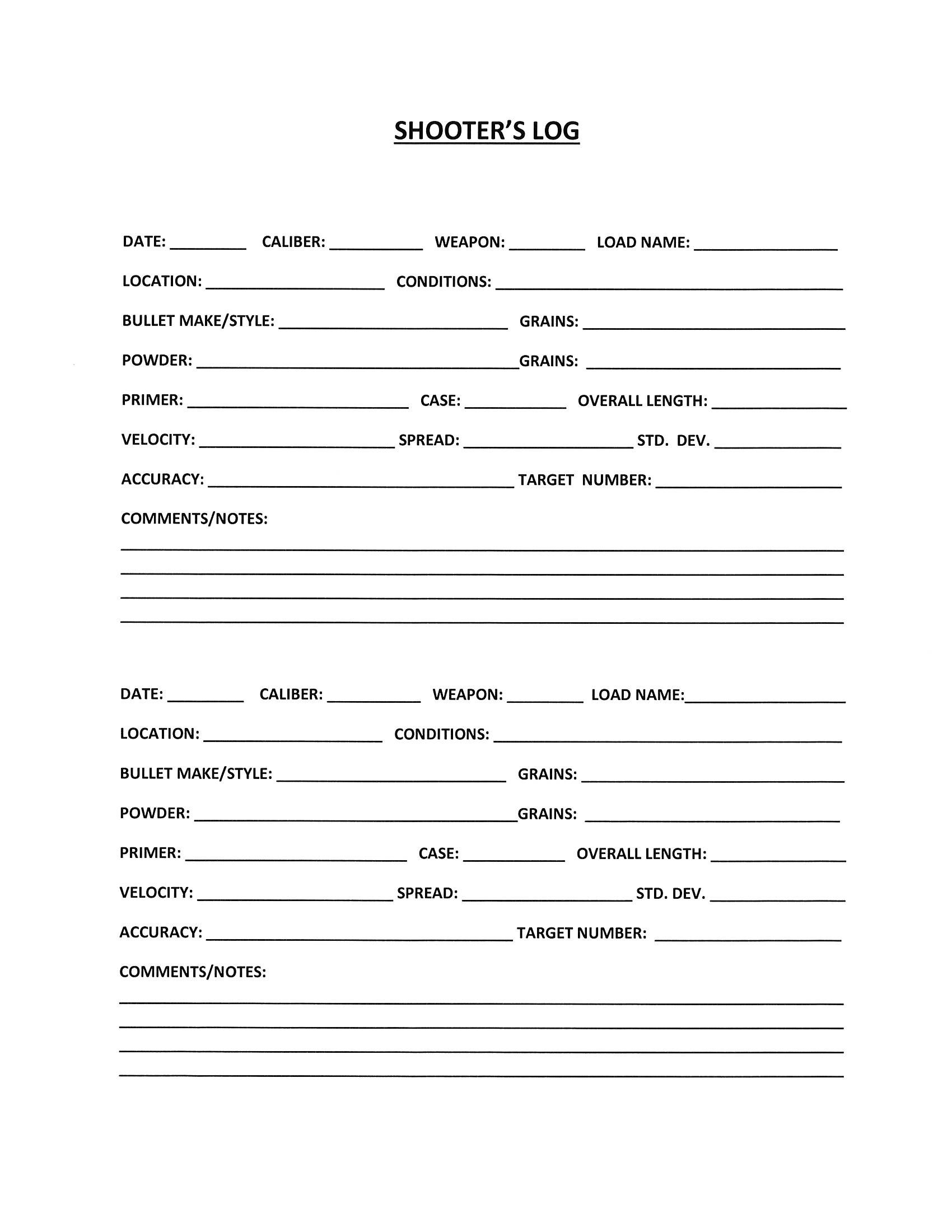photo about Printable Firearm Log called Totally free Printable Shooters Log! Print off numerous copies in the direction of