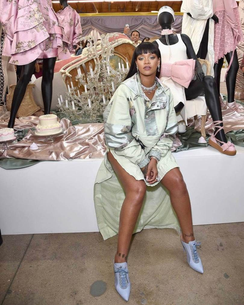 Rihanna Wears Own Fenty x Puma Designs