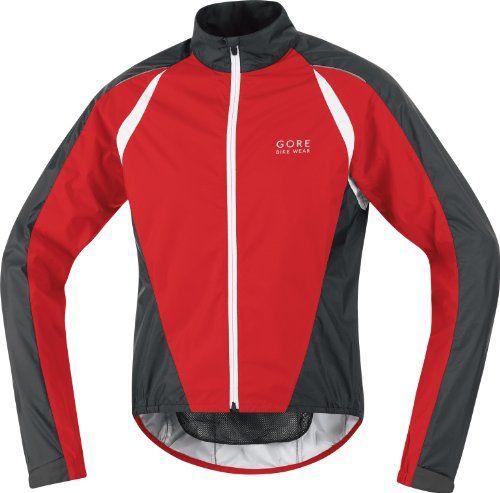 Gore Bike Wear Men's Contest 2.0 Active Shell Jacket, Red/Black, Large Large