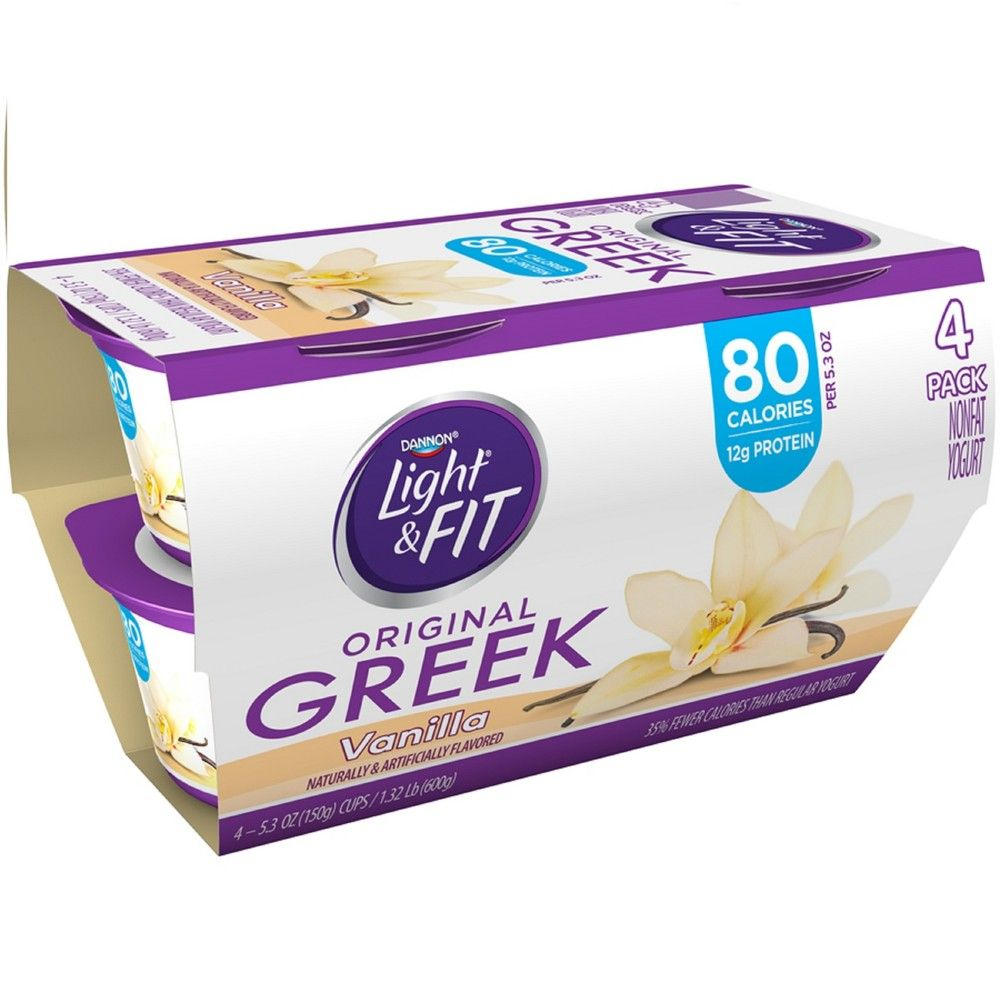 Dannon light and fit vanilla flavored greek yogurt 4ct5