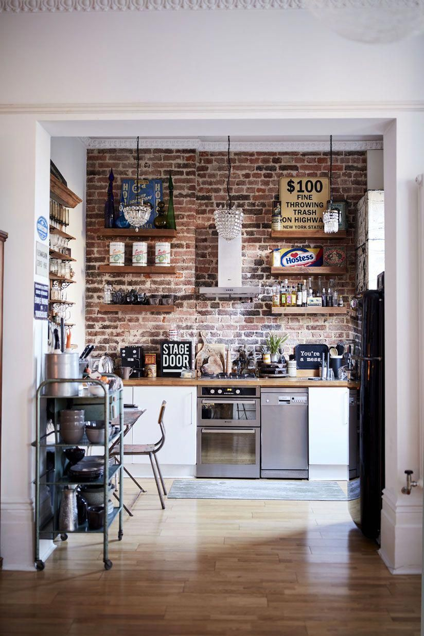Rockett St George Blog - #10MinsWith #TInaB #extraordinary #interiors #kitchen #brick #walls #typography #home #interiors #industrialkitchen