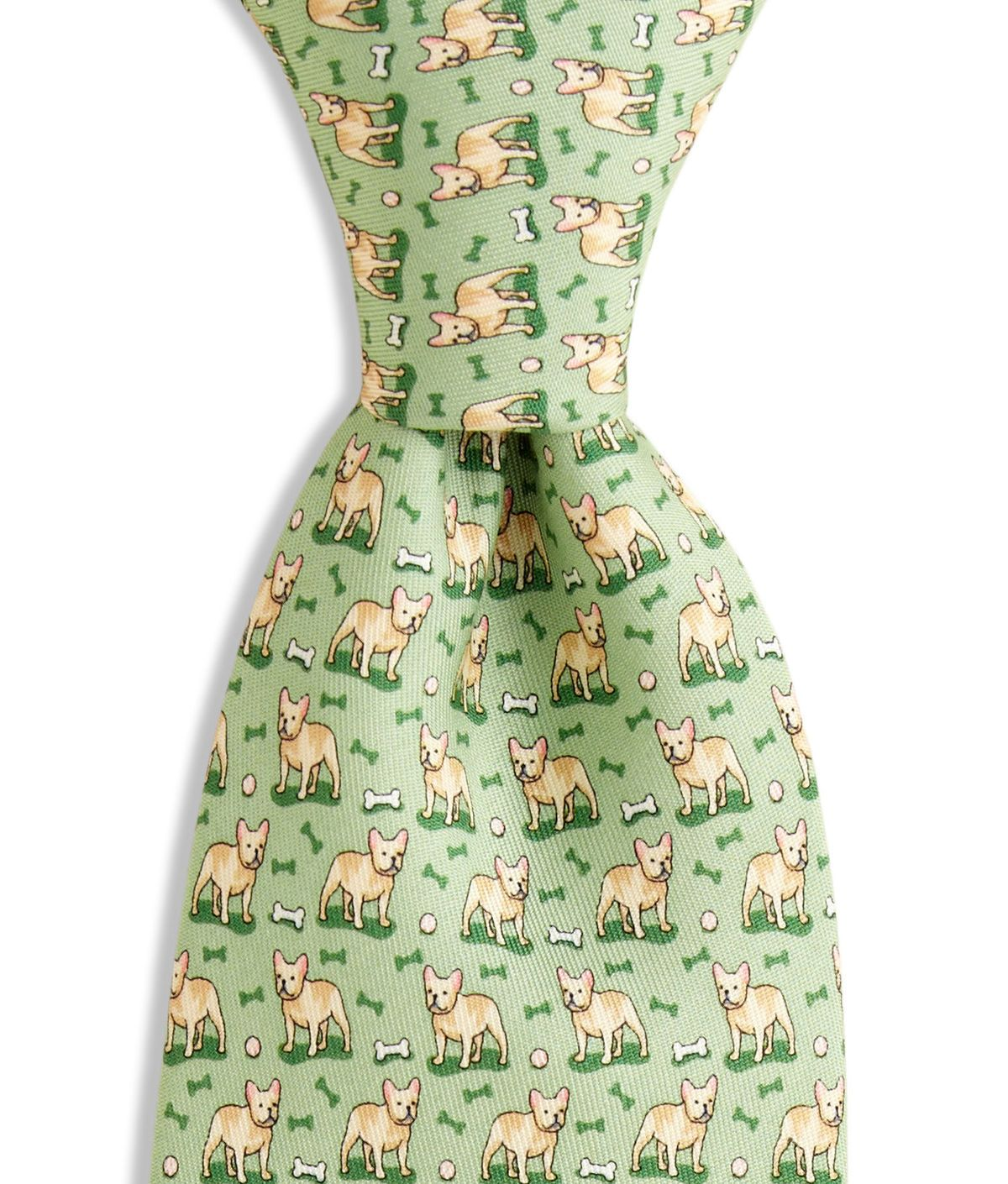 Mens French Bulldog Breed Pet Printing Casual Tie Necktie