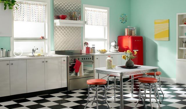Modern And Old At The Same Time Yes Vintage Styled Contemporary Kitchens 1950s Style Kitchen Design