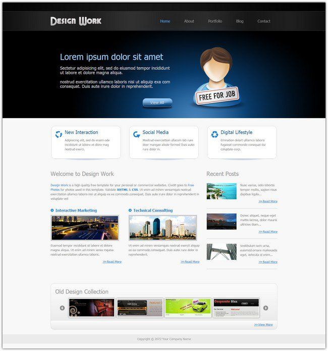 Free Dreamweaver Templates Pinterest Template And Web Design - Template website dreamweaver free