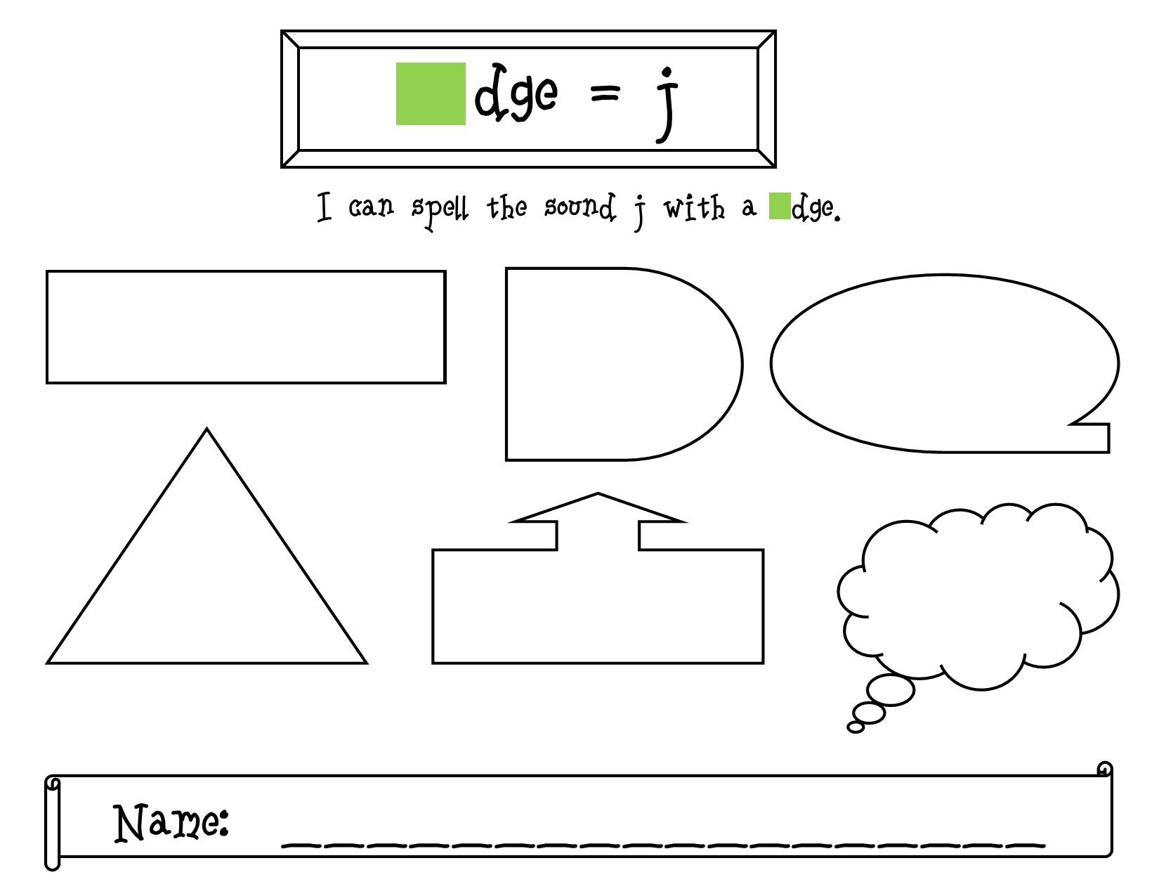 worksheet Trigraph Worksheets practice the trigraph dge with this recording sheet and a game at spellingcity