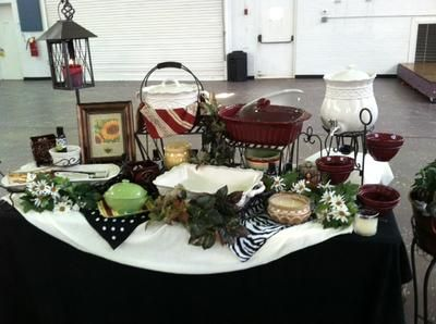 Seasonal Display-Home Party: Celebrating Home is known for their amazing Pottery Bean Pots, cookware and dishes!  We also have home décor items, everything from wall art to vases to