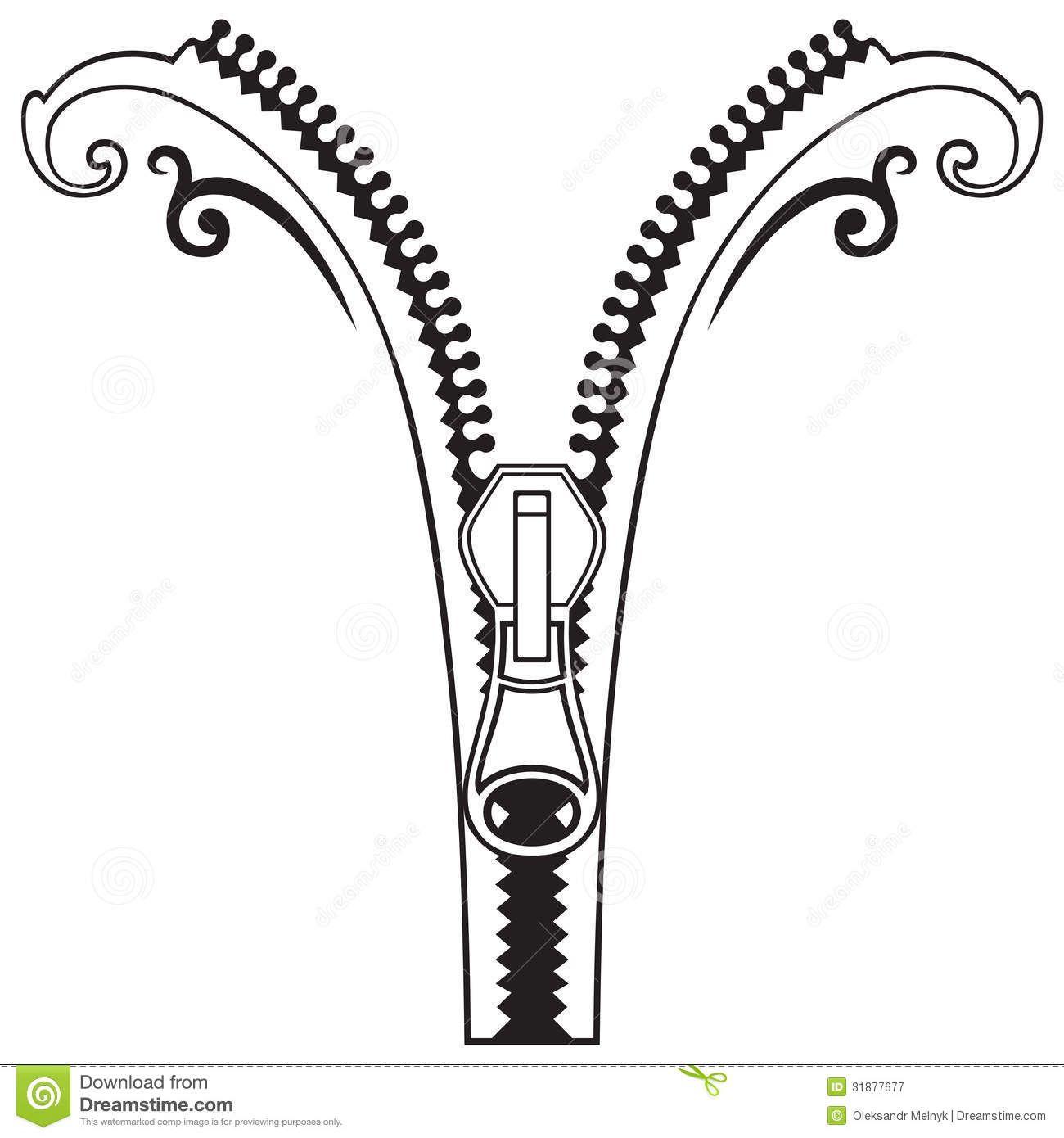 Zipper Black White Symbols Zipper Drawing Clip Art Stock Photography Free