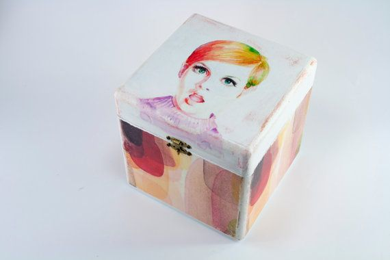 Decoupage deco box by HoMMeStudio on Etsy