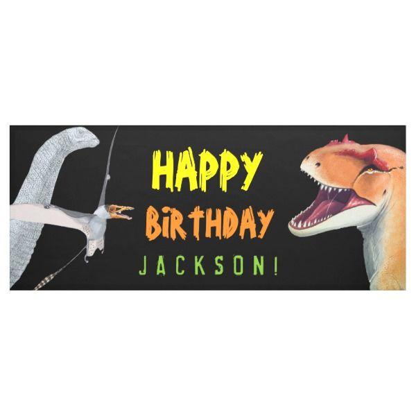 Happy Birthday Kids Dinosaur Birthday Banner