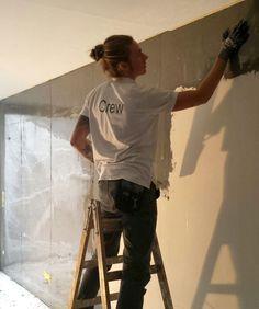 making of sichtbetonoptik im reihenhaus beton beton putz w nde und haus. Black Bedroom Furniture Sets. Home Design Ideas
