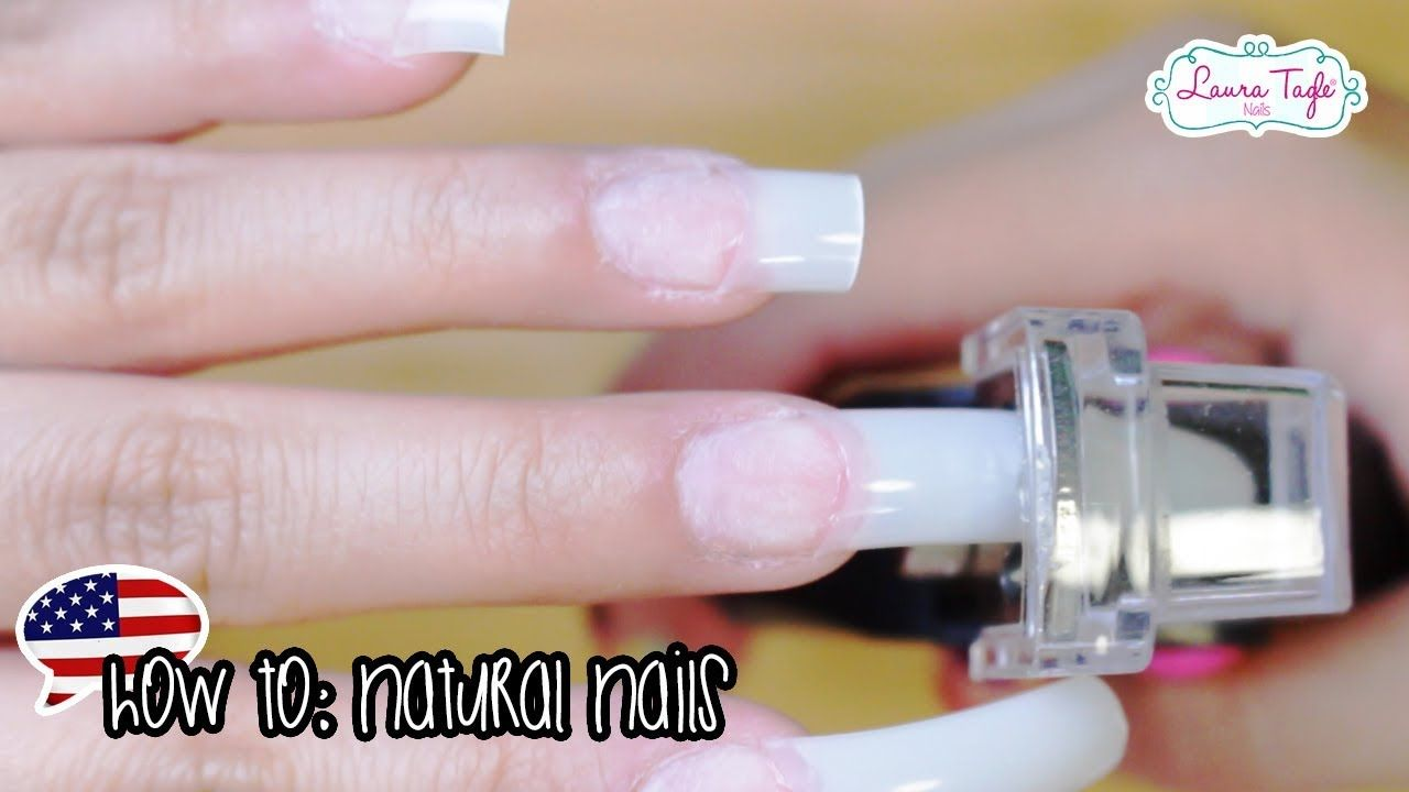 Beginners Acrylic Nails Natural Tip aplication YouTube