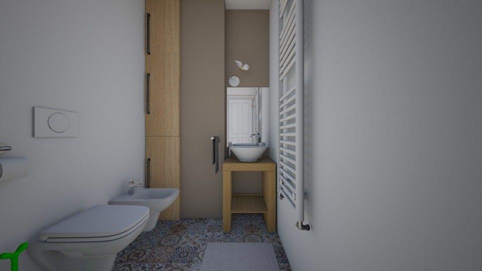 Bagno Progetto ~ Colori caldi e tenui al tempo stesso linee essenziali bagno