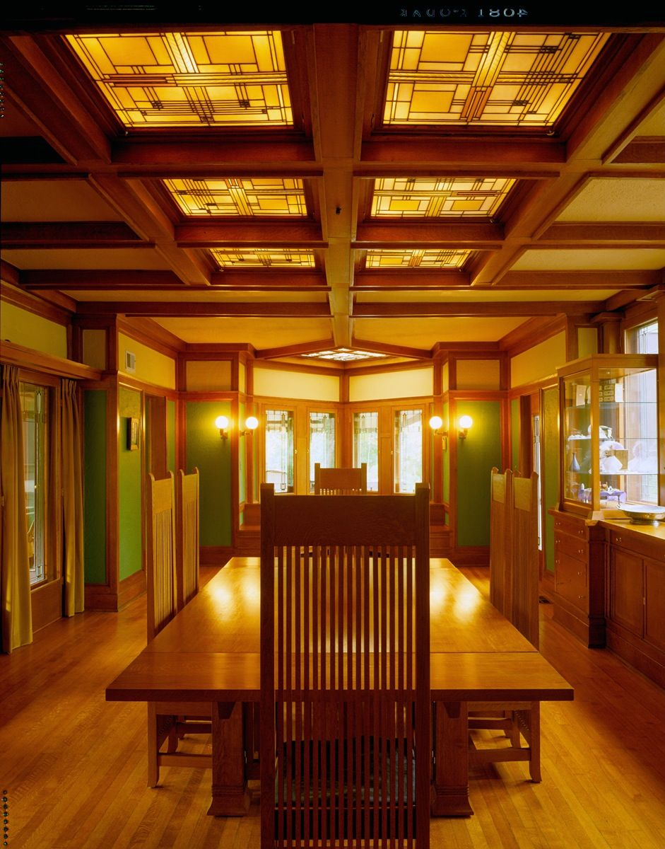The sc johnson gallery at home with frank lloyd wright ward willits house dining room