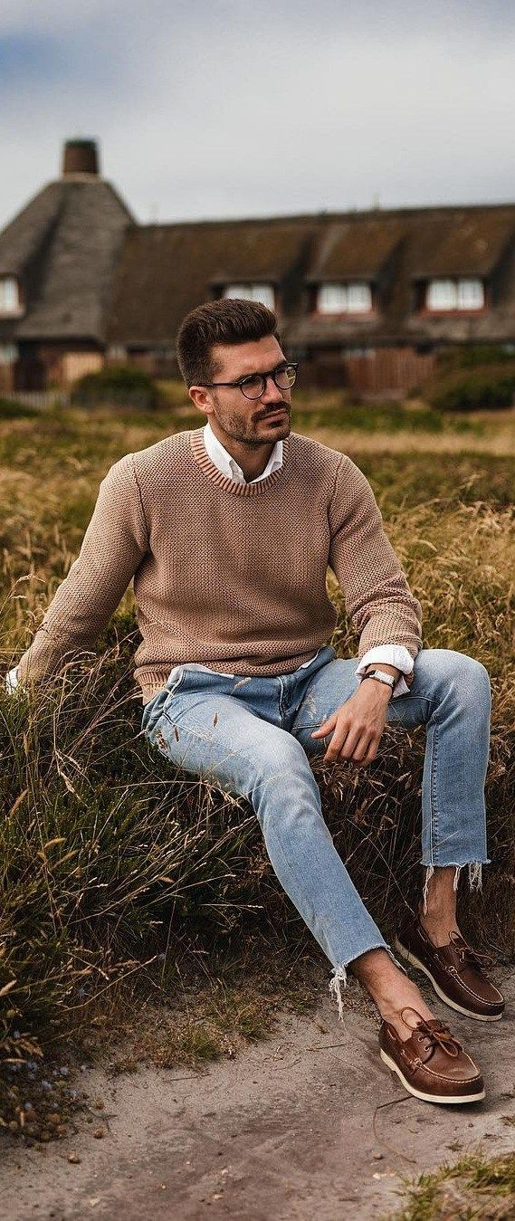 10 Sweater Outfit Ideas That Will Never Go Out Of Fashion is part of Jeans outfit men - Sweater For Winters! Men can't ask for more! Here are few sweater outfit ideas men should know as its high on trend this season  Get Started!