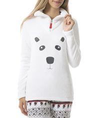 Haut de pyjama en peluche à motif hivernal pour dame Mandarine & Co
