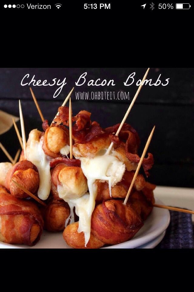 Cheesy Bacon Bombs #Food #Drink #Trusper #Tip
