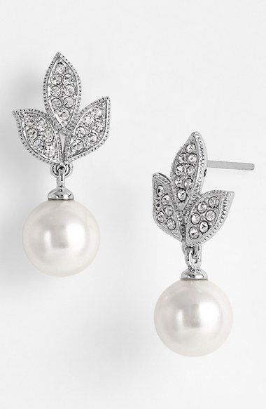 Nadri Romancing Pearl Faux Drop Earrings Available At Nordstrom Pink Wedding Pinterest And