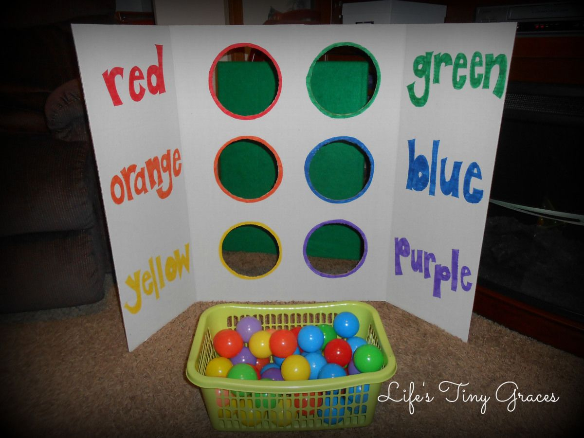 Toddler Tuesday: Color Sorting with Ball Pit Balls | Ball pits and ...