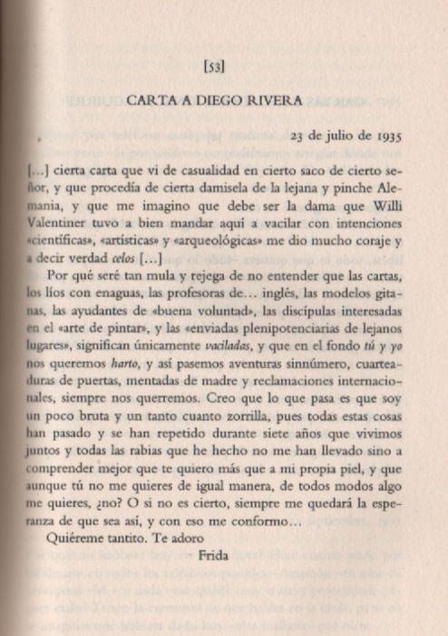 Poema De Diego Rivera A Frida Kahlo Y Aunque Tu No Me Quieres De Igual Manera De Todos Modos Algo Me
