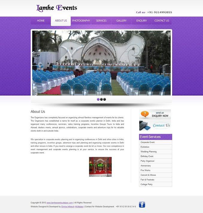 2 Free Event Management Website Templates Download Dimira Infotech