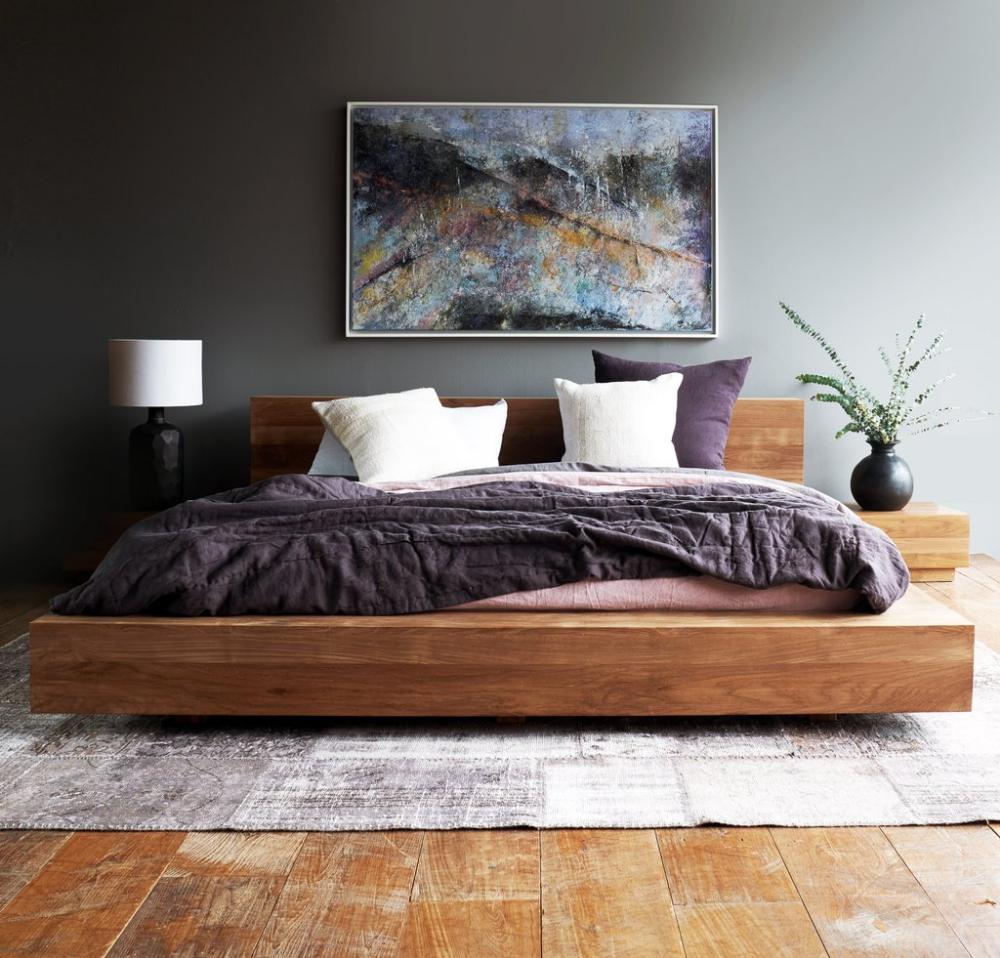 King Size Bed Modern Bedroom Furniture Minimalist Bed Bedroom