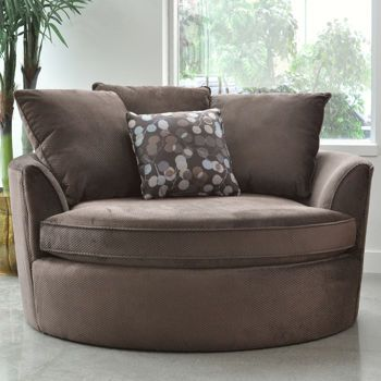 Asha Cuddler Brown Chair Barrel Chair Chair And A Half Comfortable Accent Chairs