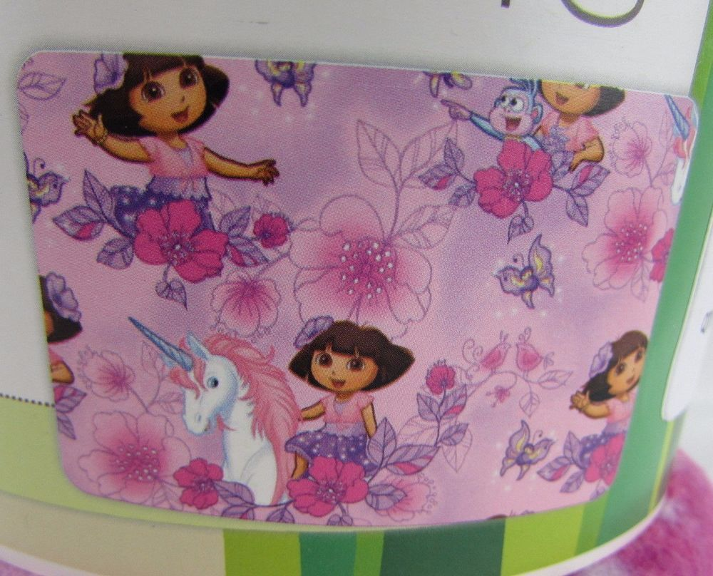 Details about dora the explorer unicorn pink fleece fabric